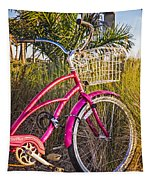 Bicycle At The Beach II Tapestry