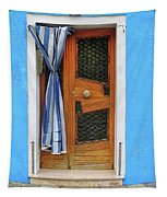 Blue In Burano Tapestry