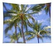 Blurry Palms Tapestry