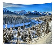 Bow Valley Winter View Tapestry