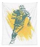 Brett Favre Green Bay Packers Water Color Art 1 Tapestry