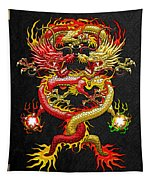 Brotherhood Of The Snake - The Red And The Yellow Dragons Tapestry