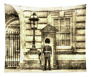 Buckingham Palace Queens Guard Vintage Tapestry