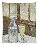 Cafe Table With Absinthe Tapestry