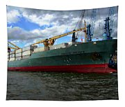 Cargo Ship Tapestry