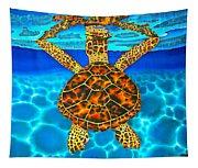 Caribbean Hawksbill Sea Turtle Tapestry