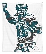 Carson Wentz Philadelphia Eagles Pixel Art 5 Tapestry