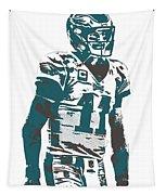 Carson Wentz Philadelphia Eagles Pixel Art 6 Tapestry