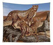 Cheetah Family Tree Tapestry