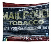 Chew Mail Pouch Tobacco Ad Tapestry