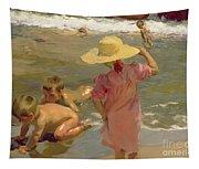 Children On The Seashore Tapestry