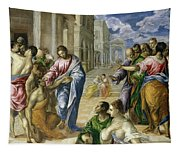 Christ Healing The Blind Tapestry