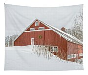 Christmas Barn Tapestry