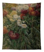 Chrysanthemums In The Garden At Petit-gennevilliers Tapestry