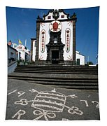 Church In The Azores Tapestry