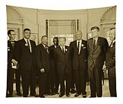 Civil Rights Leaders And President Kennedy 1963 Tapestry