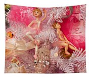 Close-up Of Toys On Christmas Tree Tapestry