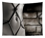 Closeup Of A Stomach With Decorative Rope Bondage Shibari Tapestry