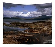 Cloud Passing Across The Cuillin Main Ridge And Bla Bheinn From Tokavaig Sleat Isle Of Skye Scotland Tapestry
