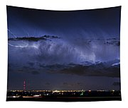 Cloud To Cloud Lightning Boulder County Colorado Tapestry