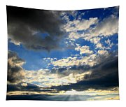 Clouded Sun Rays Tapestry