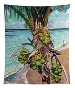 Coconuts On Beach Tapestry
