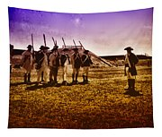 Colonial Soldiers At Fort Mifflin Tapestry