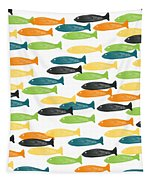 Colorful Fish  Tapestry by Linda Woods