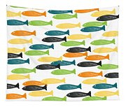 Colorful Fish  Tapestry