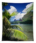 Cooks Bay With Sailboat Tapestry