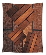 Copper Plate Abstract Tapestry