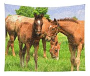 Cute Colts Tapestry