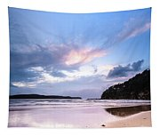 Dawn Seascape With Cloudy Sky Tapestry