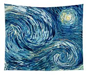 Detail Of The Starry Night Tapestry