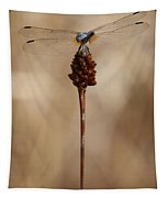 Dragonfly On Reed Tapestry