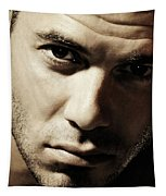 Dramatic Male Portrait Tapestry