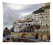 Driving The Amalfi Coast In Italy Tapestry