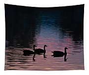 Ducks All In A Row Tapestry