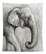 Elephant Watercolor Tapestry