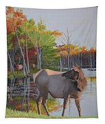 Elk Country Evening Tapestry