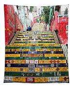 Escadaria Selaron In Rio De Janeiro Tapestry