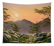 Evening Moonrise Tapestry