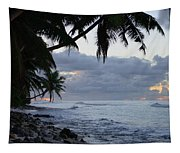 Evening On The Beach Tapestry