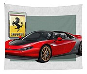 Ferrari Sergio With 3d Badge  Tapestry