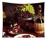 Festive Dinner Still Life Tapestry