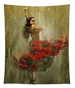 Flamenco In Red Tapestry