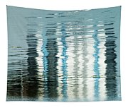 Floating On Blue 45 Tapestry
