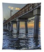 Fort Myers Beach Fishing Pier Tapestry by Edward Fielding