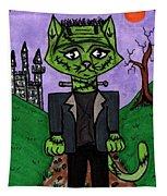 Frankenstein Cat Tapestry