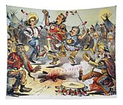 Free Silver Cartoon, 1896 Tapestry